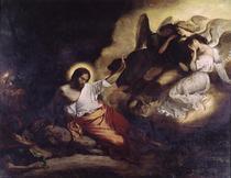 Christus im Garten am Ölberg by Ferdinand Victor Eugèn  Delacroix