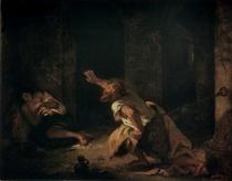 Der Gefangene von Chillon by Ferdinand Victor Eugèn  Delacroix