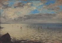 Gesehen Meer von den Höhen Dieppe  by Ferdinand Victor Eugèn  Delacroix