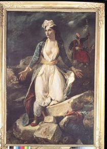 Griechenland auslaufenden auf den Ruinen des Missolonghi von Ferdinand Victor Eugèn  Delacroix
