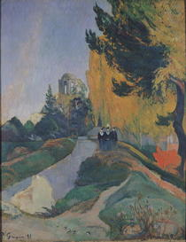 Die Alyscamps, Arles by Paul Gauguin