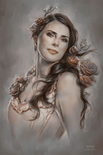 FanArt / Speedpainting of Sharon den Adel (Within Temptation) by Isis Sousa