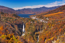 Kegon Falls near Nikko, Japan in autumn von Sara Winter