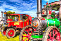 Traction Engine and Steam Lorry Art von David Pyatt