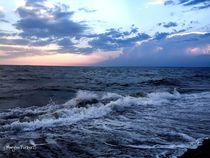 Walk On the beach at sunset  von Mary Lee Parker