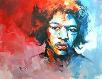Malerei Portrait - Jimmi Hendrix_Musiker  von Geert Bordich