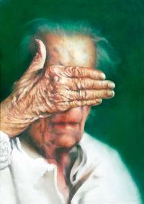Portrait Malerei - Louise Bourgeoise_Bildhauerin von Geert Bordich