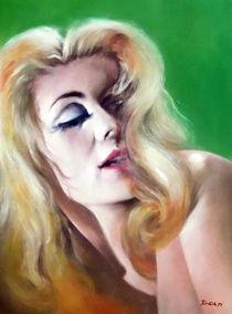Portrait Malerei - Catherine Deneuve by Geert Bordich