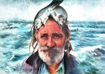 Menschen Malerei - Fisherman's Proud von Geert Bordich