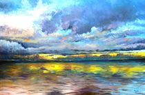Landschaft Malerei - Sylt_Sunset (aus der Serie Wasser) von Geert Bordich