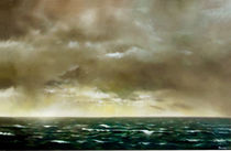 Landschaft Malerei - Grosse Seelandschaft (aus der Serie Wasser) von Geert Bordich