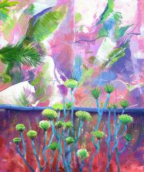 Landschaft Malerei - Gewächshaus auf Fuerteventura by Geert Bordich