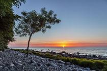 Sonnenaufgang vor Sassnitz von Sandro Mischuda
