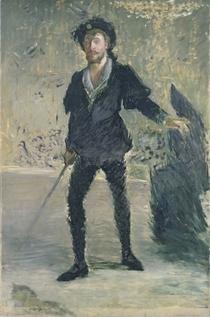 "Jean-Baptiste Faure in der Oper ""Hamlet"" von Ambroise Thomas by Edouard Manet"
