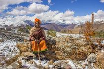 A monk at Muktinath von Bikram Pratap Singh