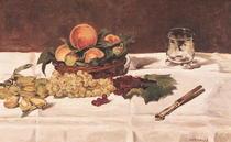 Stillleben: Früchte auf einem Tisch von Edouard Manet