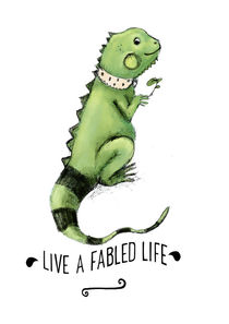 Live a fabled life Poster quote by Paola Zakimi