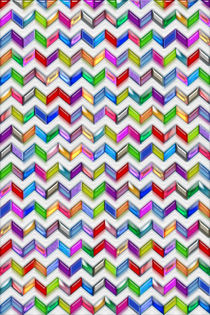 Colorful Chevron Pattern Digital Art by Blake Robson