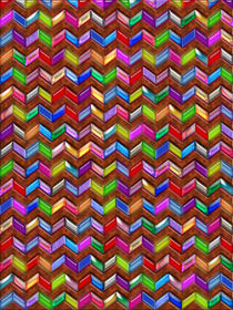 Chevron Pattern Digital Art Faux Leather von Blake Robson