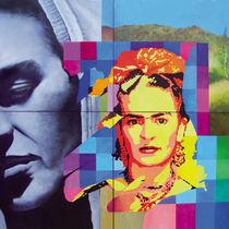 Menschen Malerei - Hommage à Frida Kahlo  by Geert Bordich