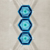 Abstract Blue Hexagons von cinema4design