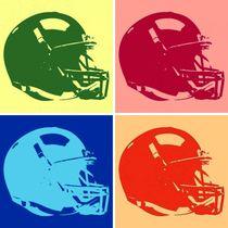 American Football Helmet Pop Art by Meliha HIZLI