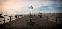 Dusk at the landing stage Colonia del Sacramento  by Diana C. Bernardi