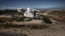 Wintertime at Cabo Polonio Landscape with white house von Diana C. Bernardi