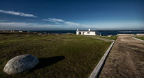protected landscape at Cabo Polonio with white house by Diana C. Bernardi