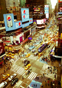 Times Square traffic von Perry  van Munster