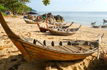 Thai Long-tail boats  by Perry  van Munster
