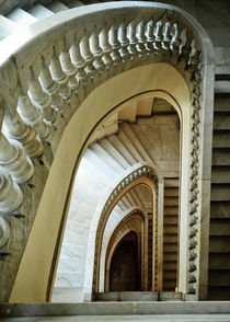 Spiral Staircase Madrid Spain von Perry  van Munster