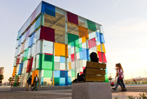 Coloured Cube Pompidou Malaga Musuem by Perry  van Munster
