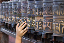 Prayer Wheels at Swayambhunath by Bikram Pratap Singh