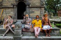 Sadhus at Pashupatinath by Bikram Pratap Singh