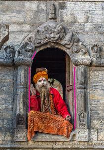 A Sadhu at Pashupatinath von Bikram Pratap Singh