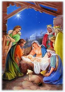 Religious christmas, nativity birth of jesus von arthousedesign