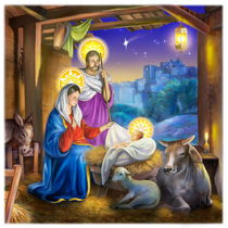 Nativity religious Christmas by arthousedesign