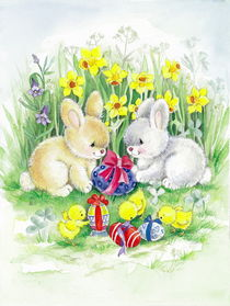 Cute Easter bunnies by arthousedesign