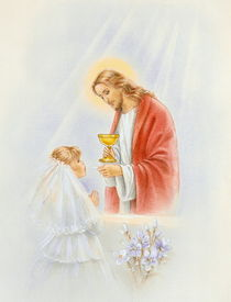 First holy communion girl von arthousedesign