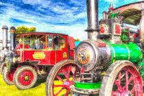 Traction Engine and Steam Lorry Art von David Pyatt