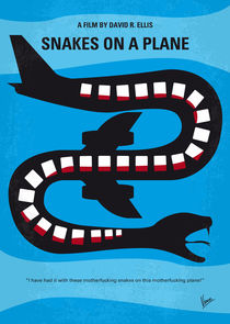 No501 My Snakes on a Plane minimal movie poster by chungkong
