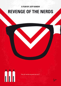 No504 My Revenge of the Nerds minimal movie poster von chungkong