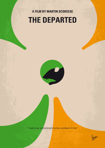 No506 My The Departed minimal movie poster von chungkong