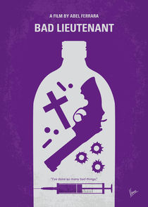 No509 My Bad Lieutenant minimal movie poster by chungkong