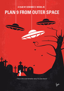 No518 My Plan 9 From Outer Space minimal movie poster von chungkong