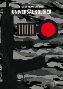 No523 My Universal Soldier minimal movie poster von chungkong