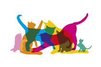 Cats by Harry Hadders