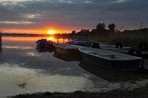 Sonne hinter Booten by alana