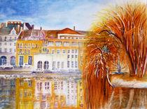 Auf dem Fluss Saone ( Frankreich ) von Irina Usova